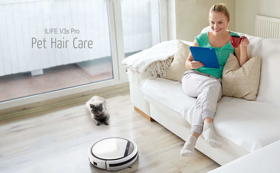 Ilife V3s Pro Robotic Vacuum Cleaner Automatic Cleaning
