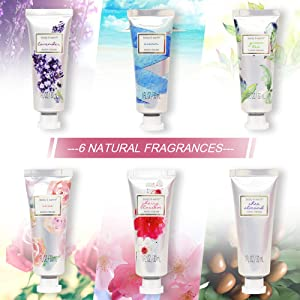 Hand Cream Gift Set Pack of 12 Hand Lotion Enriched with Shea Butter and Glycerin to Nourish and Deeply Moisturize Rough Hands, 12 x 1.0 oz Travel