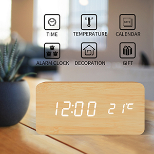U2022Multi Function LED Alarm Clock U2022This Alarm Clock Display Time / Date  /temperature/ Humidity U2022It Is A Perfect Ornament For Your Bedroom And Best  Gifts For ...