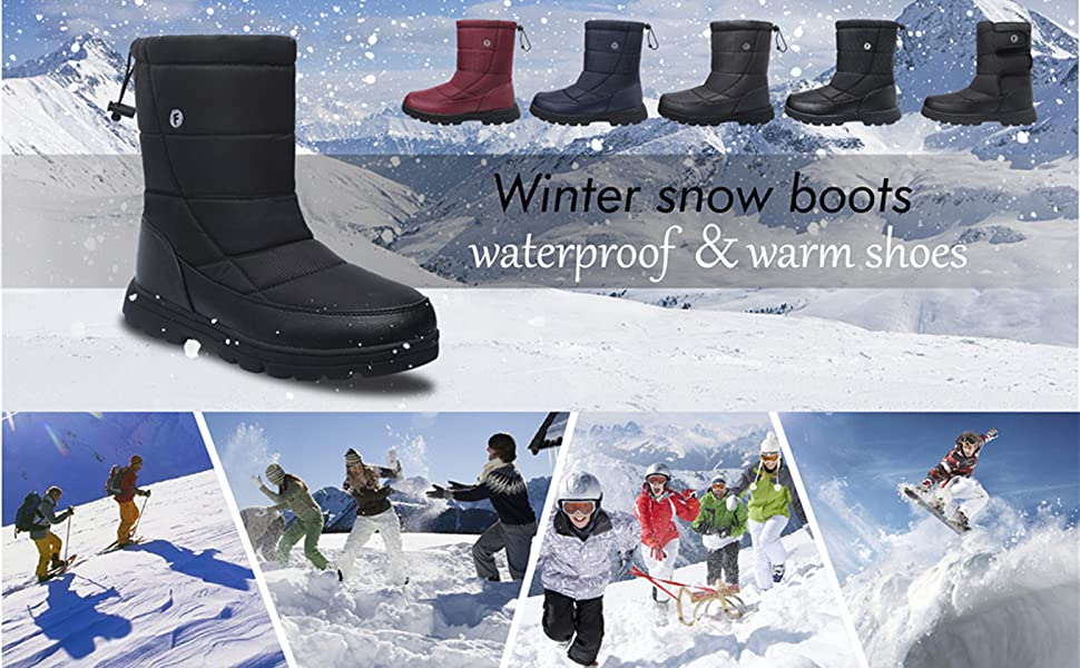JOINFREE Snow Boots Winter Boots Ankle