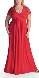 Women Plus Size Dress Short Sleeve High Waist Evening Party Dresses · Women Plus Size Dress Short Sleeve High Waist Evening Party Dresses ...