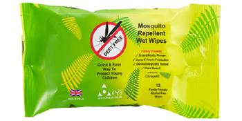 mosquito repellent wet wipes