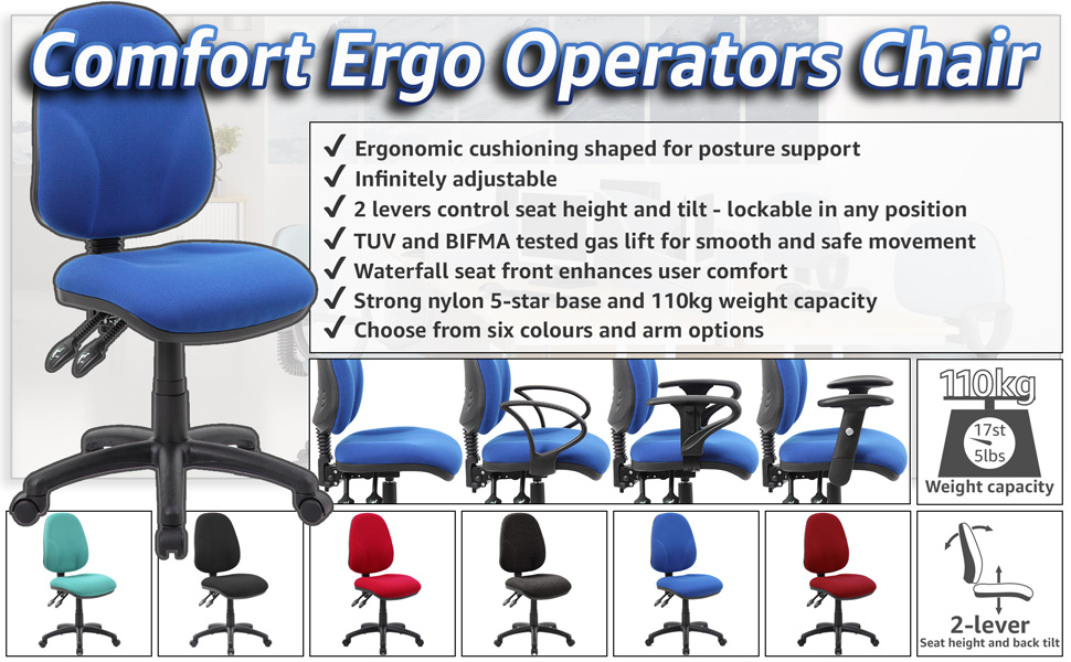 Astounding Office Furniture Online Comfort Ergo 2 Lever Operator Chairs Ocoug Best Dining Table And Chair Ideas Images Ocougorg