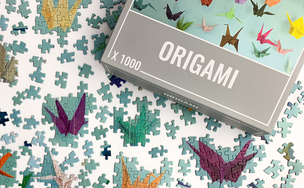 Origami Jigsaw Puzzle (1000 pieces