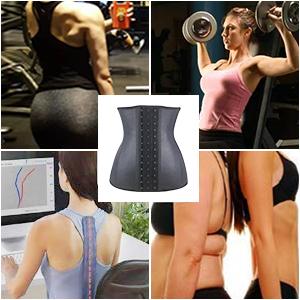 08adf17480 Women s 25 Steel Bone Latex Waist Trainer Corset with Three Rows of Hooks ·  Women s 9 Steel Bone Latex Waist Trainer Corset with Three Rows of Hooks ...
