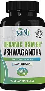 organic ashwanghanda ashwagandha ksm66 stress anxiety sleep calm aswaganda relaxation