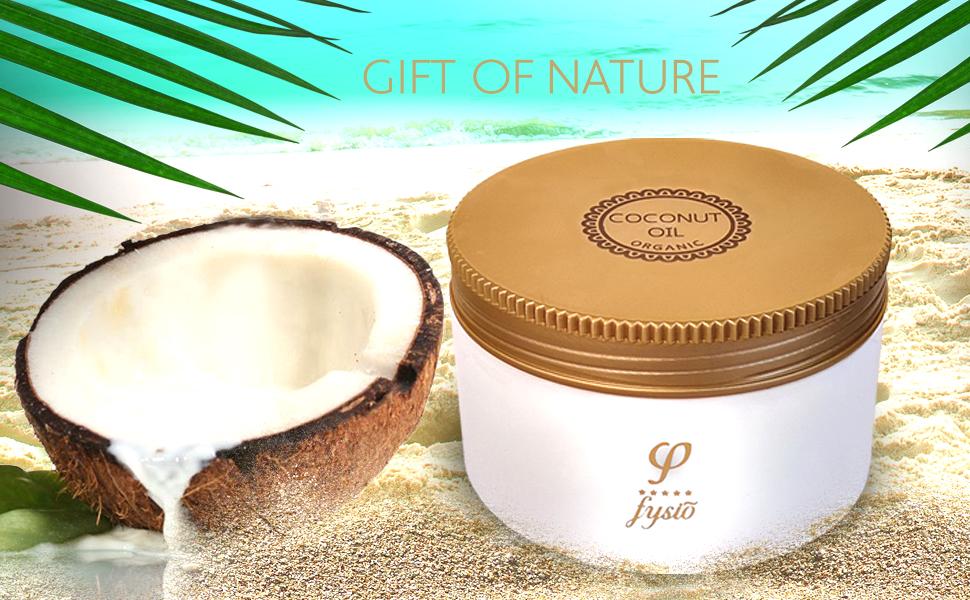 fysio organic coconut oil for skin hair body face serum moistruriser conditioner skincare cosmetics