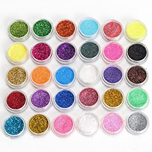 neverland professional 30 mixed color cosmetic glitter mineral