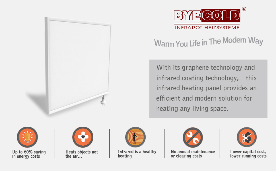 byecold Far Infrared Heater with Built