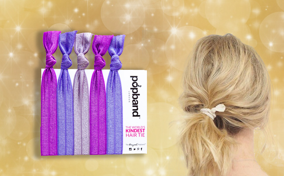UK Seller Bands 3 Colours NEW Set of 6 Paisley Print Elasticated Hair Tie