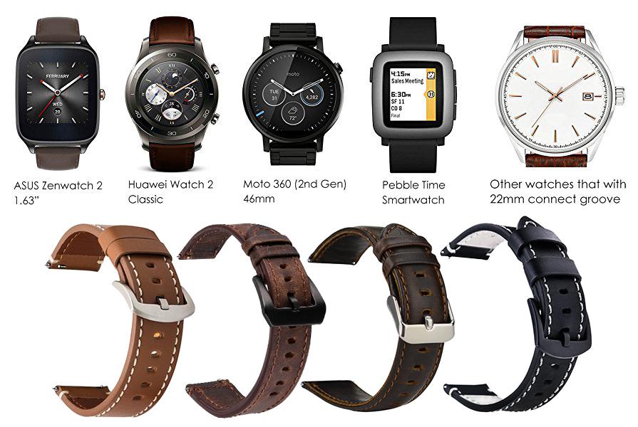 iBazal Gear S3 Strap, Gear S3 Frontier/Classic Leather ...