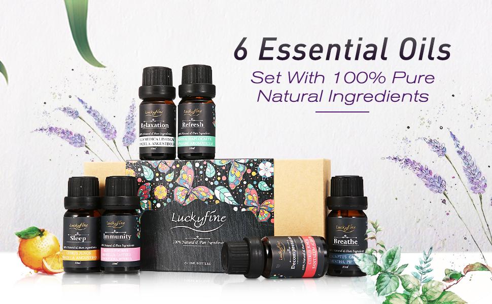 6 essential oils kit/set
