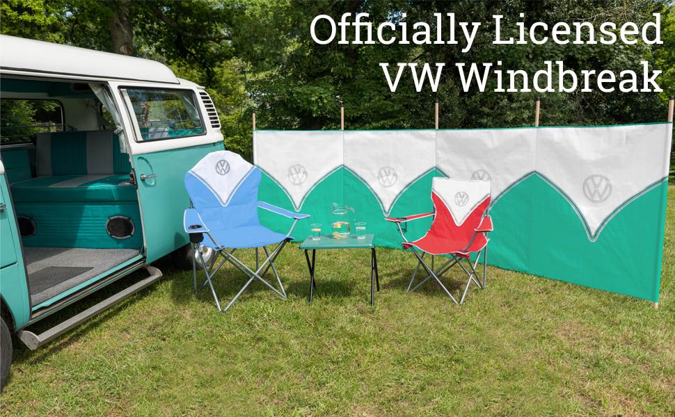 Volkswagen 4//5 Pole Windbreak 120cm VW Beach Camping Wind Breaker