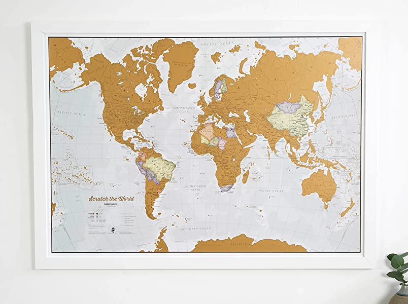 Maps International Scratch The World Travel Map Scratch Off World - Where have you been travel map