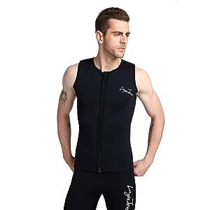 490114423c Layatone Wetsuit Vest for Men Premium Neoprene 3mm Sleeveless ...