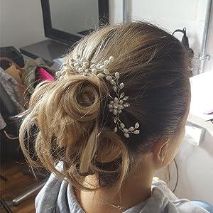Bridal Hair Pins - 3pcs Fashion Retro Elegant Ladies Pearl