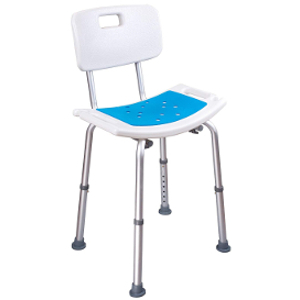 Medokare Shower Chair with Back Padded Shower Seat for Seniors with Handles and Tote Bag, Shower Bench Bath Chair for Elderly, Handicap Tub Shower