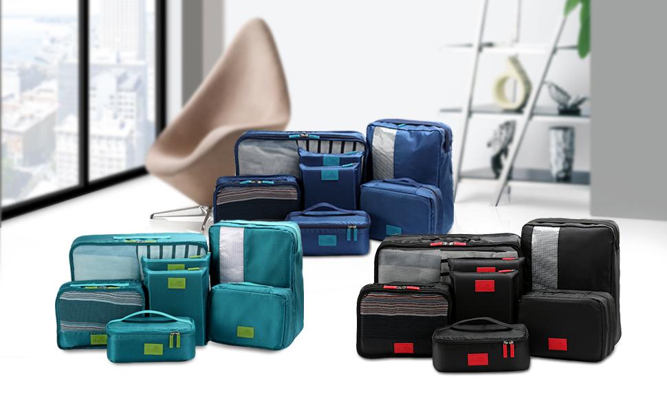packing cubes value set for travel by u miss 7pcs travel. Black Bedroom Furniture Sets. Home Design Ideas