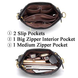 large capacity hobo handbag