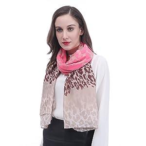 Lina & Lily Leopard Animal Print Women's Large Scarf Shawl Wrap Gift Idea