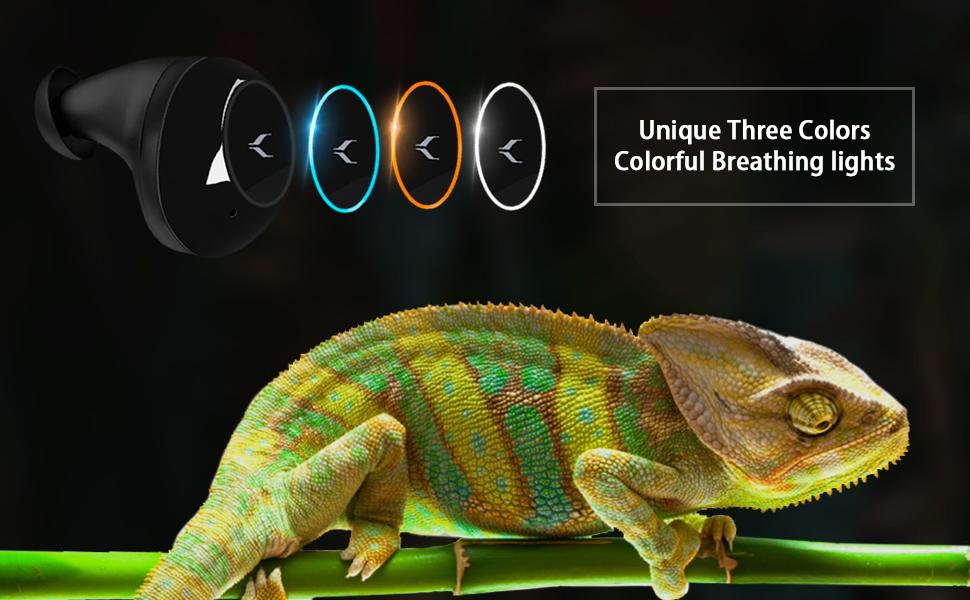 three color bluetooth earphones