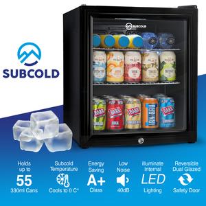 50L, LED, Light, temperature, A+, fridges, refrigerator,lockable, quiet, display, front, fronted