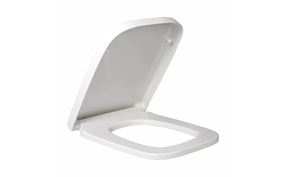 Pleasing Woltu Square Toilet Seat White Soft Close Quick Release Toilet Lid Cover Pabps2019 Chair Design Images Pabps2019Com
