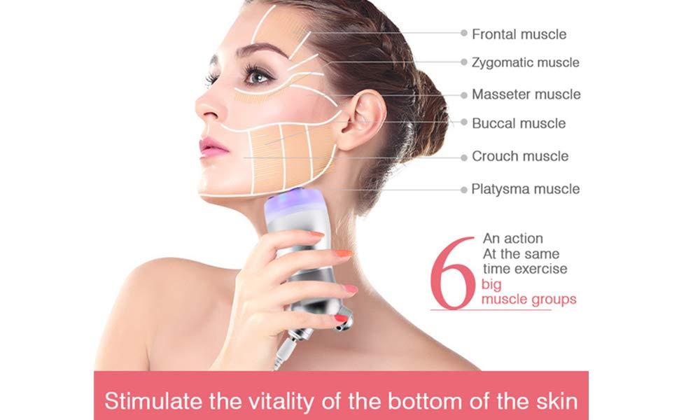 YAVOCOS LED Light Skin Rejuvenation Face Lift Massager