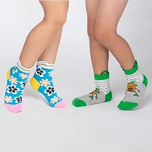 calzini facili da tirare punte senza cuciture Ez Sox Calzini per bambini con volti di animale grip antiscivolo