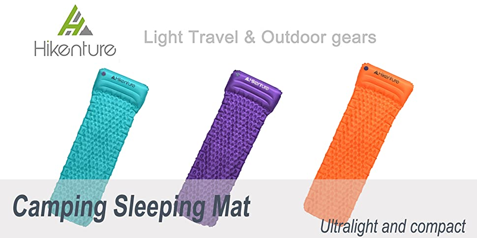Hikenture Portable Sleeping Mat By Inflatable Camping Mat
