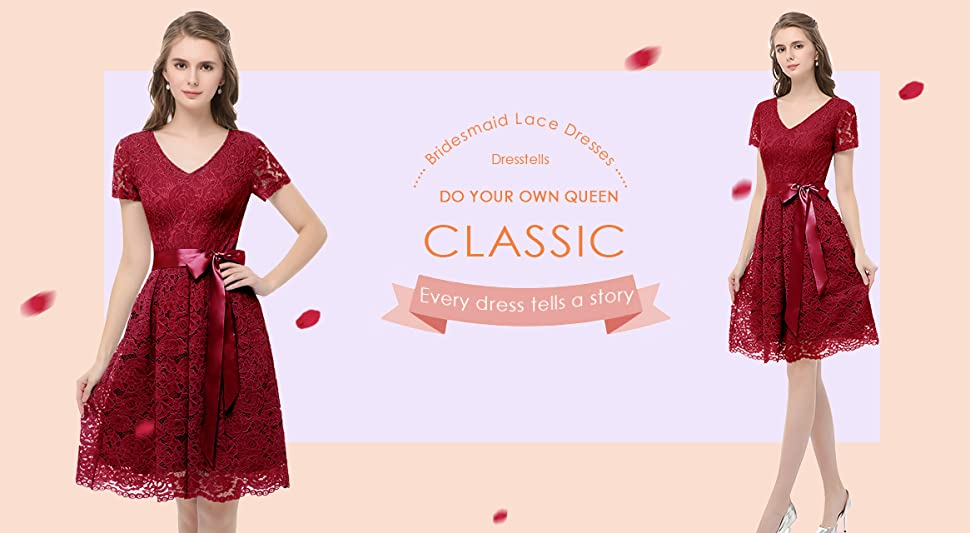 The lace dress have no elasticity, please order one size up if you wish loose fit.