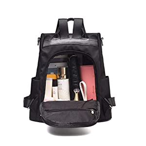 Backpack's capacity: It can fits iPad, umbrella, wallet, water bottle, book, snack, makeup…