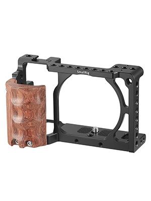 SmallRig Jaula Con Madera empuñadura para Sony A6000//A6300 Cámara Rig Kit 2082 Sm