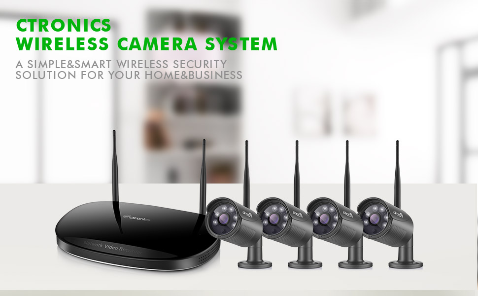 Wireless Security Camera System Ctronics 4ch Video