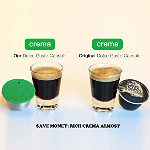 PAWACA Coffee Capsule Refillable, Reusable Capsule Pod Coffee Filter Cups Compatible for Dolce Gusto Machines with 1 Spoon, 1 Cleaning Brush and 1