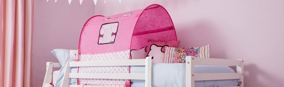 Noa And Nani Hello Kitty Cabin Bed Slide In Whitewash Mattress