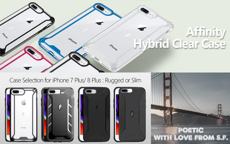 poetic apple iphone 7 plus 8 plus case affinity series