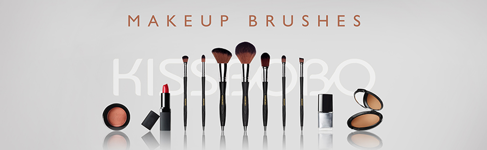 KISSBOBO Makeup Brushes for Powder Concealer Eyeshadow Blending Blush Eyebrow Foundation (7 Pcs)