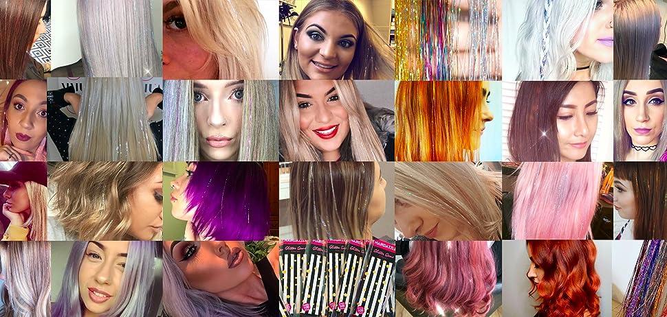 HAIR DAZZLE - The No 1 Hair Tinsel Glitter Strands! 100 x