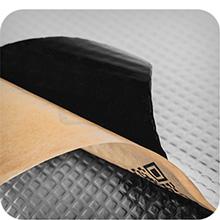 roll op geluid verdovende auto geluid vernietigende isolatie schuim geluid demping mat warmte schild