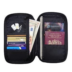 rfid nfc basic chip wallet holder organizer travel pro trip airport ticket license boarding pass
