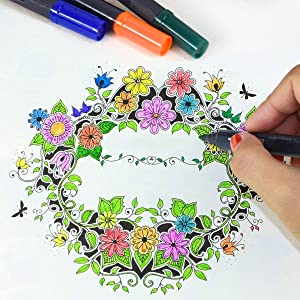 sayeec watercolour coloring pens for adult coloring book