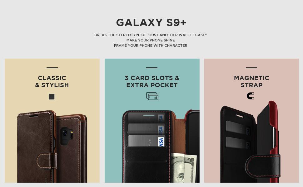 samsung galaxy s9 plus case vrs design leather wallet. Black Bedroom Furniture Sets. Home Design Ideas