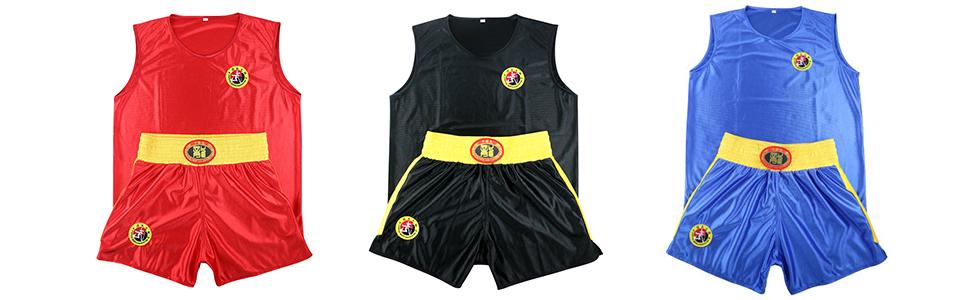 uirend Sports Outdoors Clothing Unisex Adult Children Boxing Jerseys Sanda Set Gym Vest Shorts Muay Thai Martial Arts Training Wear Sportswear
