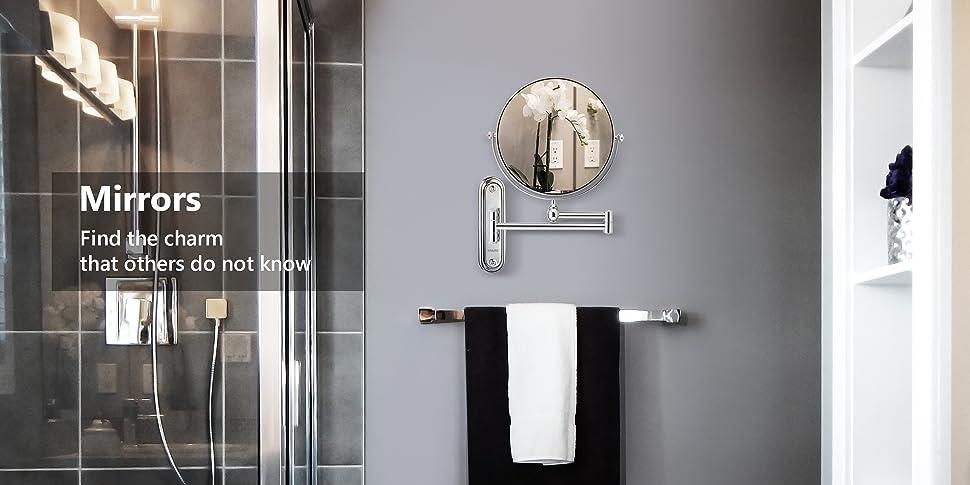 Spaire 7X Wall Mounted Bathroom Makeup Mirror