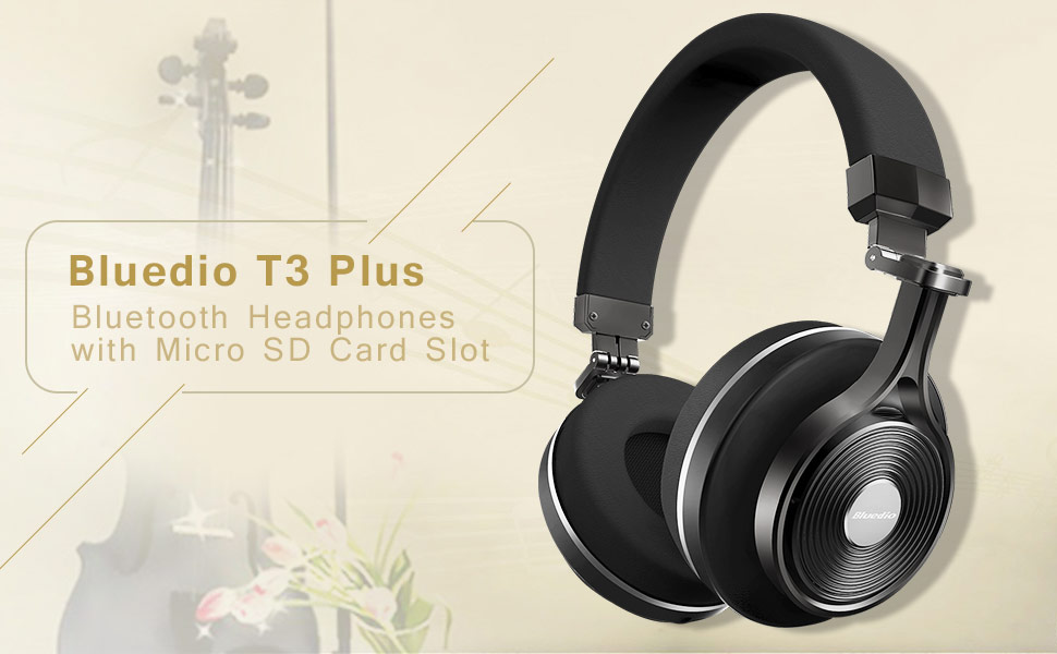 adf1bb991ef Bluedio T3 Plus (Turbine 3rd ) Wireless Bluetooth 4.1 Stereo Headphones  with Mic/Micro SD Card Slot