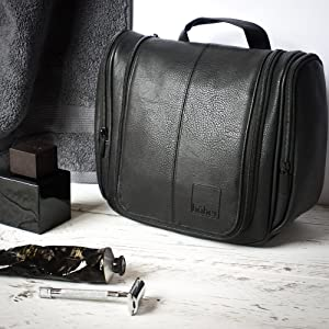 hoher, wash bag, gift for men, toiletry, shave kit, vegan leather, toiletries, travel, woman, ladies