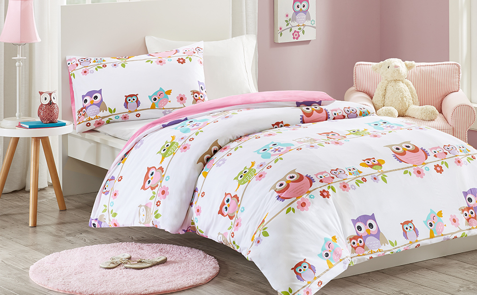 queen product floral cartoon sheet duvet modern bed linen rainbow cotton owl covers size designer cover twin set flower bedding wholesale stripe kid