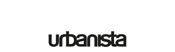 urbanista, svart, logotyp, bokstäver, text, vit, bakgrund, rubrik
