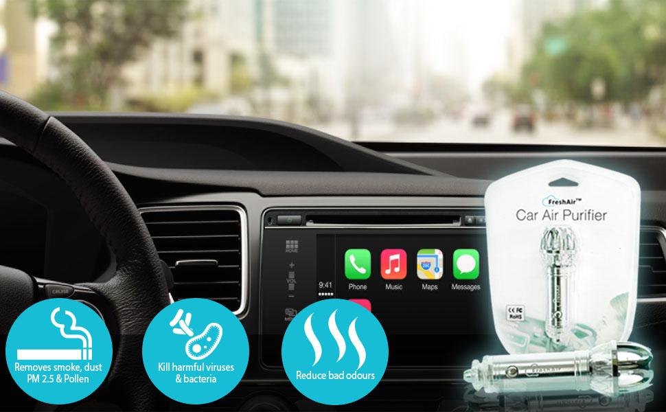Best Car Air Purifier Car Air Freshener Ionizer Ionic Air Purifier Removes Pollen Smoke